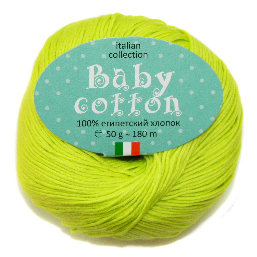 Baby cotton 38 салат неон